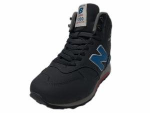 Зимние New Balance 1300 Mid Nubuck серые с синим