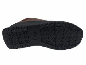 Зимние New Balance 754 Leather шоколадные с коричневым - фото подошвы