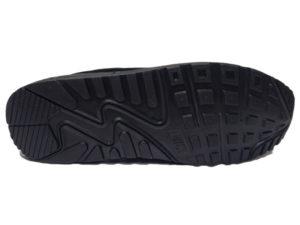 Зимние Nike Air Max 90 Suede черные - фото подошвы