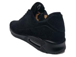Зимние Nike Air Max 90 Suede черные - фото сзади