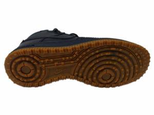 Зимние Nike Lunar Force 1 Leather темно-синие - фото подошвы