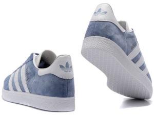 Adidas Gazelle голубые с белым