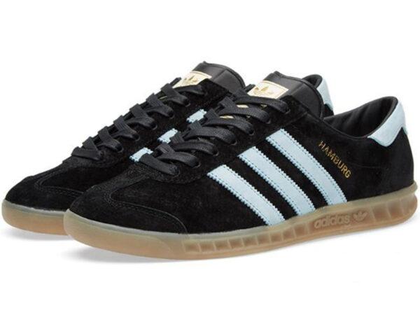 Adidas Hamburg черные с белым (40-45)
