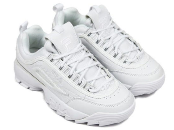Fila Disruptor 2 All White кожаные