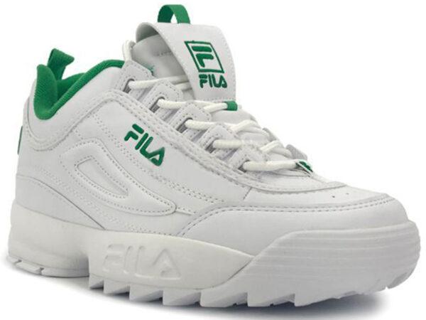 Fila Disruptor 2 белые с зеленым (35-41)