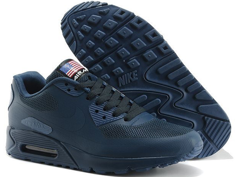 Nike Air Max 90 Hyperfuse темно-синие