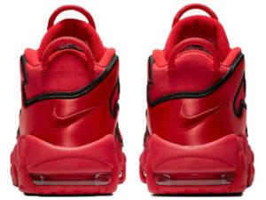 Nike Air More Uptempo Chicago Bulls красные с черным