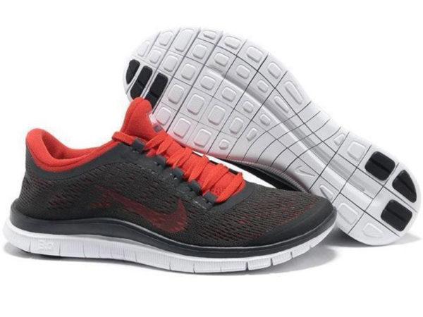 Nike Free Run 3.0 v5 черные с красным