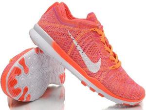 Nike Free Run Flyknit 5.0 оранжевые