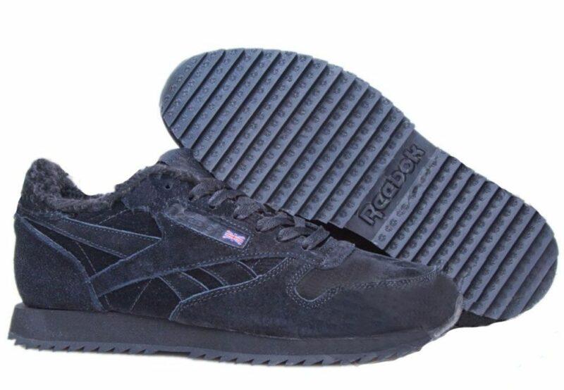 Reebok Classic Suede Black черные (35-45)