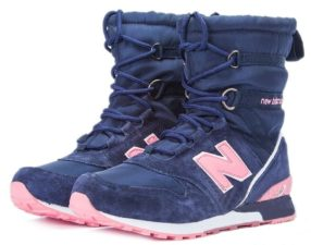 Сапоги New Balance Snow Boots синие с розовым 36-40