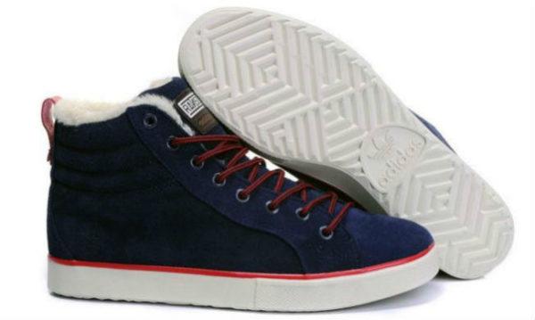 Кроссовки Adidas Ransom синие с мехом