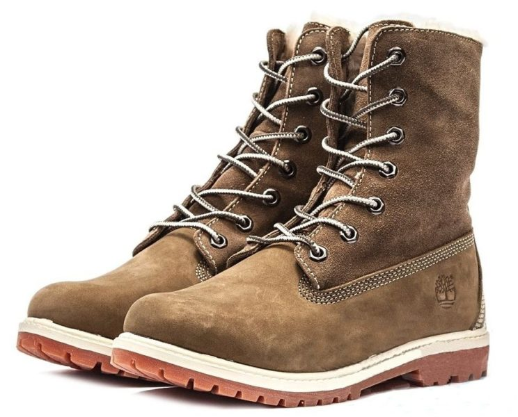 Ботинки Timberland Teddy Fleece brown 35-40