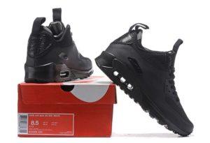 Nike Air Max 90 Winter Mid black черные (41-44)
