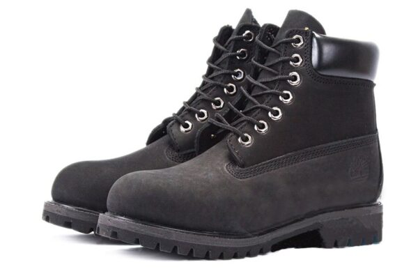 Ботинки Timberland Classic нубук Black черные (без меха) 36-46