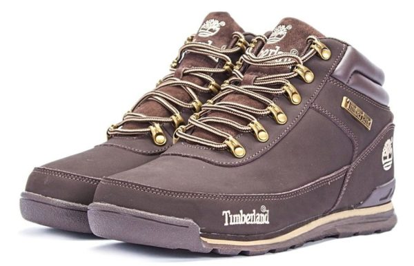 Ботинки Timberland Euro Sprint Brown нубук с мехом коричневые 41-46