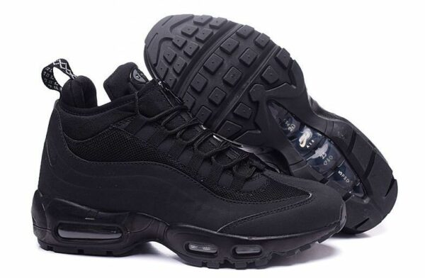 Зимние Nike Air Max 95 Sneakerboot Black черные (40-44)