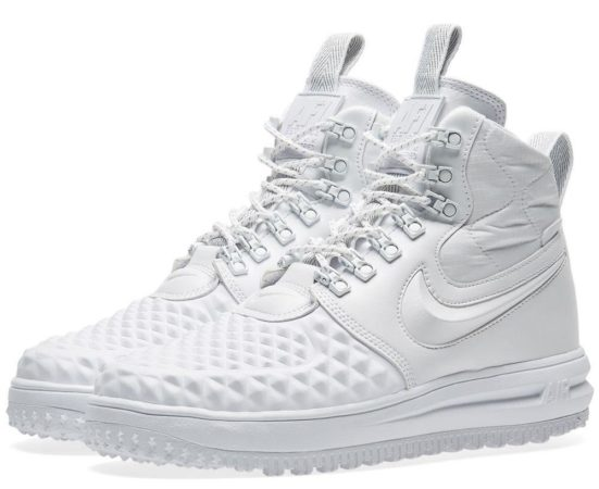 Зимние Nike Air Force 1 с МЕХОМ Lunar Duckboot White белые (35-40)