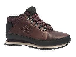 Кроссовки New Balance 754 с мехом кожаные темно-коричневые 40-45
