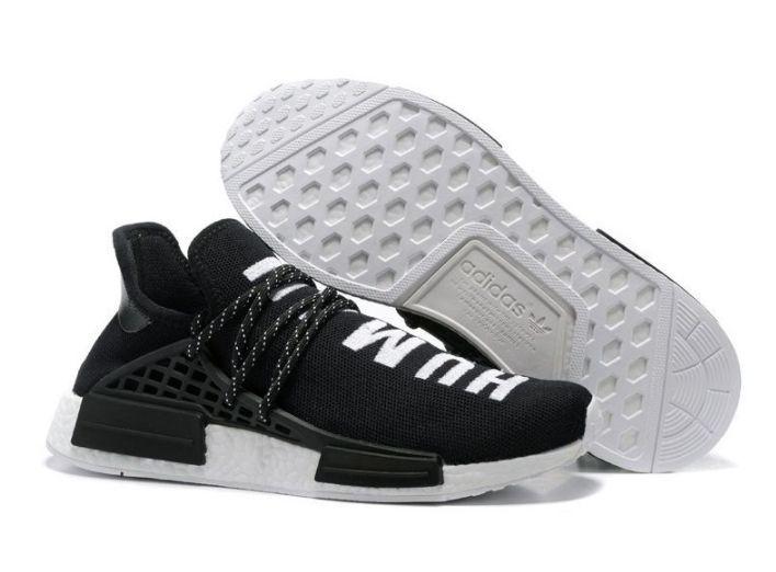 Adidas NMD Human Race черные с белым