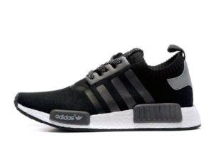 Adidas NMD Runner Primeknit черные с белым
