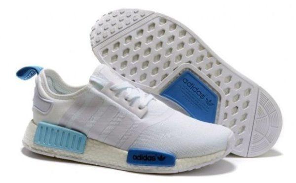 Adidas NMD белые с синим (40-44)