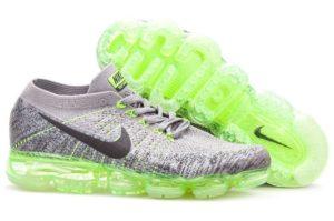 Nike Air VaporMax Flyknit серые с зеленым 40-44