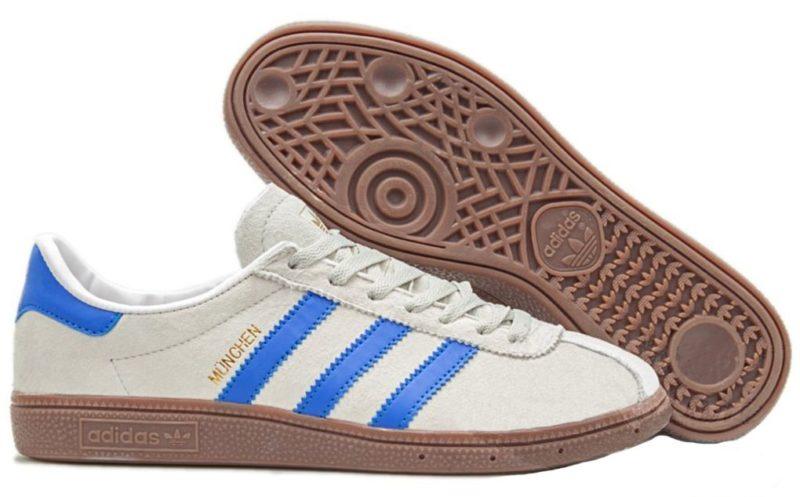Adidas Munchen White-Blue белые с синим (40-44)