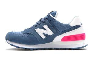 New Balance 574 синие с розовым женские (35-39)