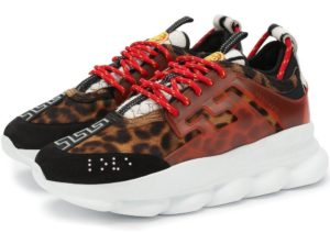 Кроссовки Versace Chain Reaction леопард 35-44