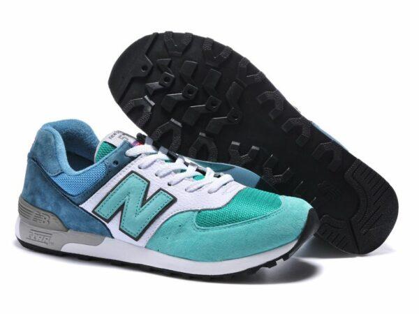 Кроссовки New Balance 576 сине-бело-бирюзовые (39-45)