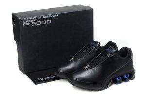 Adidas Porsche Design bounce run P5000 black чёрно-синие (39-44)