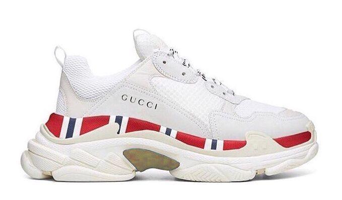 Balenciaga Triple S Gucci white женские мужские (35-44)