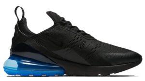 Nike Air Max 270 черные с синим (40-44)
