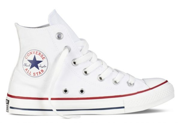 Converse All Star высокие белые white (35-45)