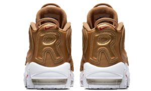 Nike Air More Uptempo Supreme x золотые 35-45