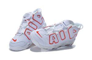 Nike Air More Uptempo бело-красные 40-45