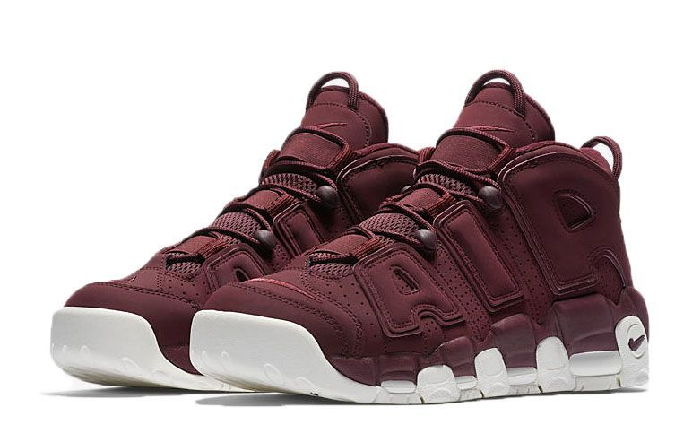 Nike Air More Uptempo бордовые 40-45