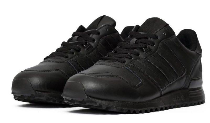 Adidas ZX 700 кожаные black черные (40-45)