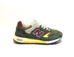 Кроссовки New Balance 577 замша-сетка зеленые с красным 40-44