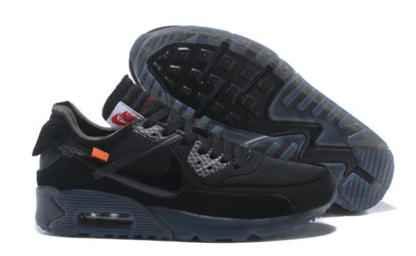 Nike Air Max 90 All Black OFF-WHITE x (40-44)