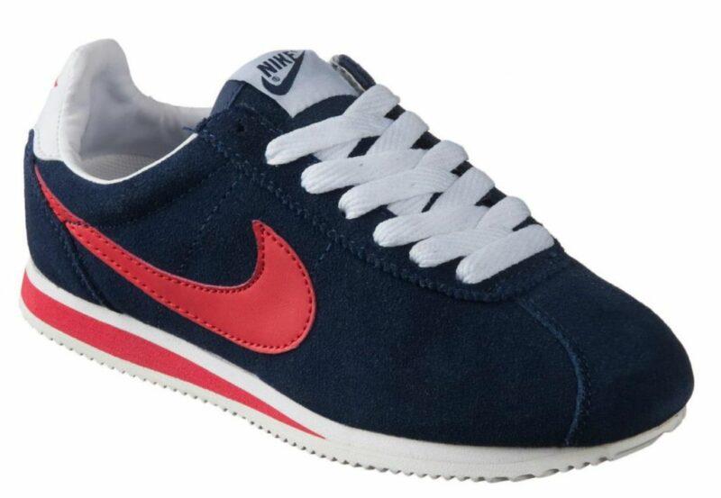 Nike Cortez замшевые темно-синие с красным (40-45)