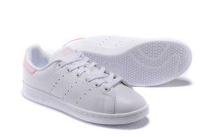 Adidas Stan Smith White-Pink белые с розовым (35-40)