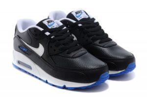 Nike Air Max 90 LTR черно-белые с синим (40-44)
