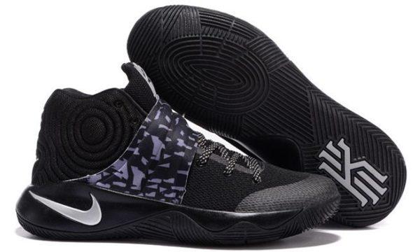 Nike Kyrie 2 Black Silver черные (40-45)
