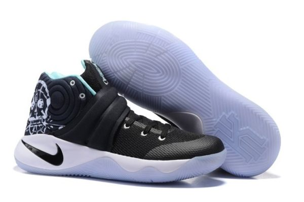Nike Kyrie 2 Black White Green черно-белые (40-45)