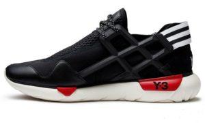 Adidas Y-3 Qasa Racer черные с красным