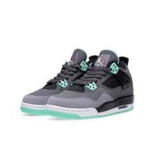 Nike Air Jordan 4 серые с зеленым (35-40)
