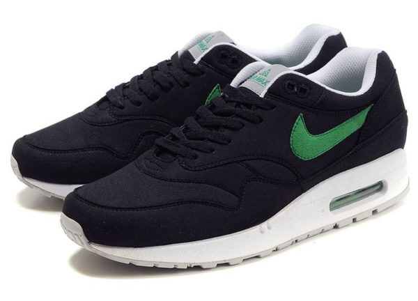 Nike Air Max 87 черные с зеленым 40-44