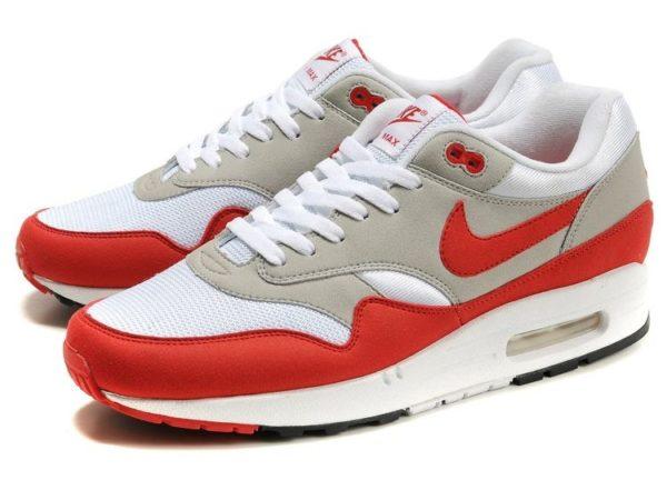 Nike Air Max 87 белый с красным и серым (40-44)